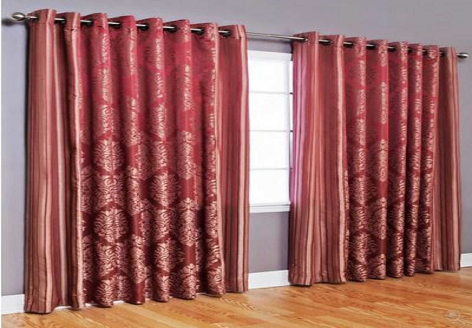 New Wide Width Bedroom Livingroom Grommet Window Treatment Curtains Drapes Home Curtains