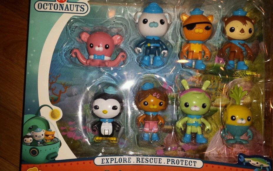 FISHER PRICE OCTONAUTS FIGURES OCTO-CREW PACK DASHI TWEAK INKLING TUNIP 8 FIGURE
