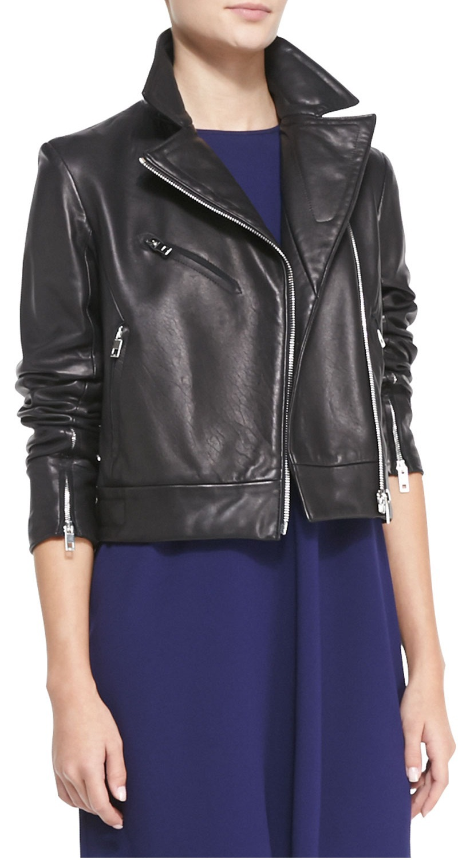 WOMEN LEATHER JACKET BLACK COLOR BIKER JACKET WOMENS - Coats U0026 Jackets