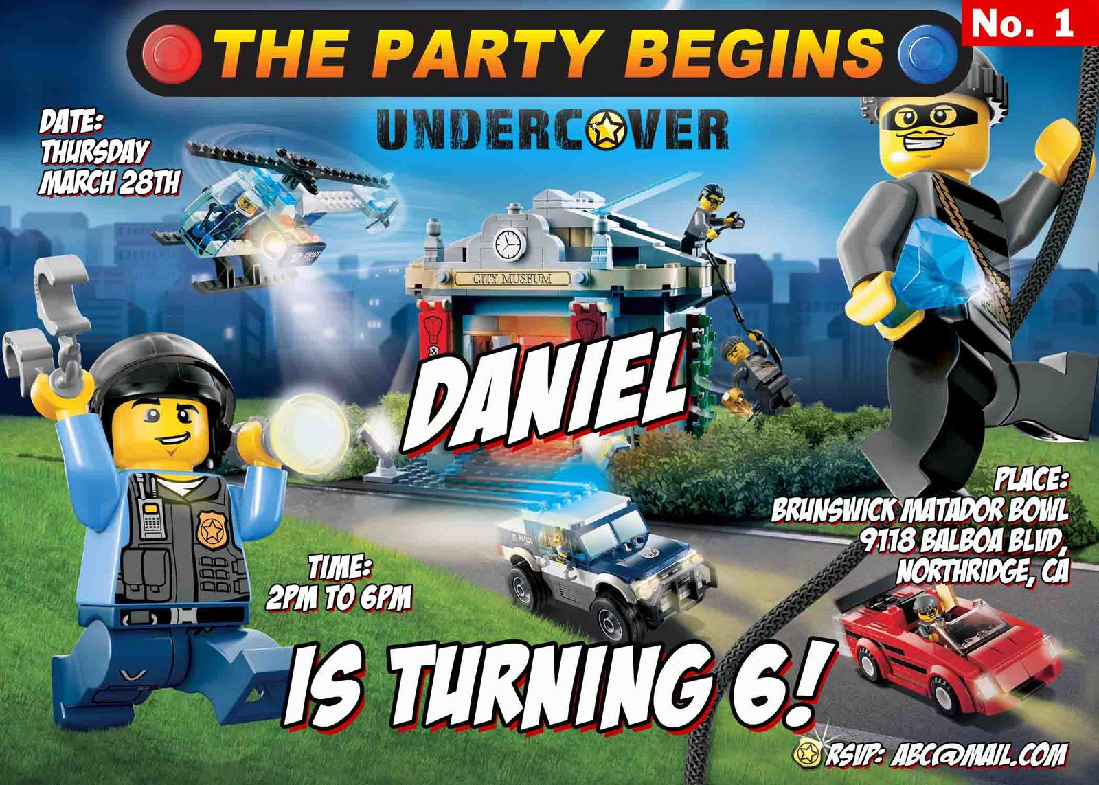 Lego City Invitations was Unique Style To Create Inspiring Invitations Design