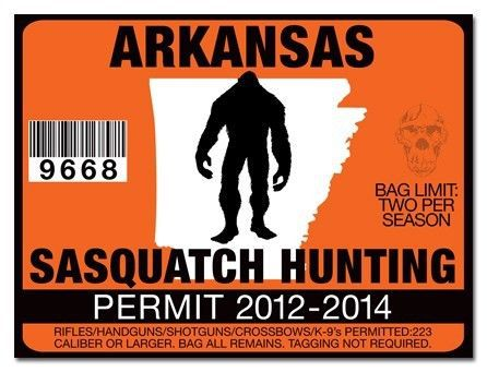 Sasquatch hunting permit license decal sticker cummins for Nys fishing license prices