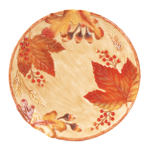 Harvest Leaves Thanksgiving Fall Plate Plates