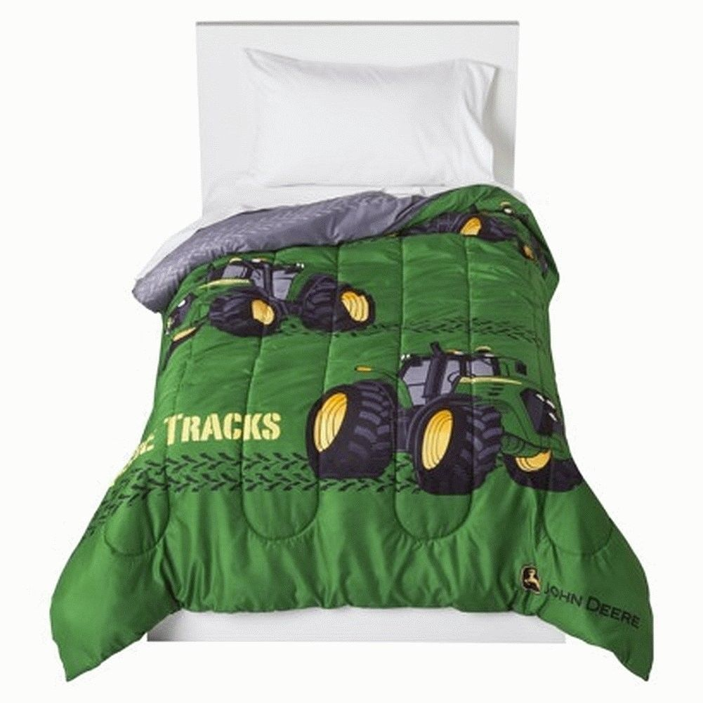 John Deere Comforter Tractor Twin Size Tracks Bedding Bed