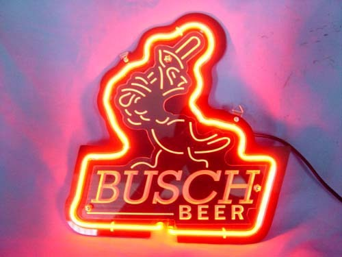 """Busch Beer St Louis Cardinals 3D Neon Light Sign 11\"""" x 8"""