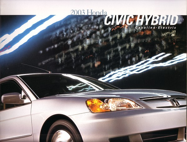 2003 honda civic hybrid sales brochure catalog 03 us honda. Black Bedroom Furniture Sets. Home Design Ideas