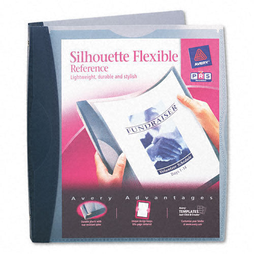 Avery Silhouette Flexible Poly Round Ring 3-Ring Binder, 1