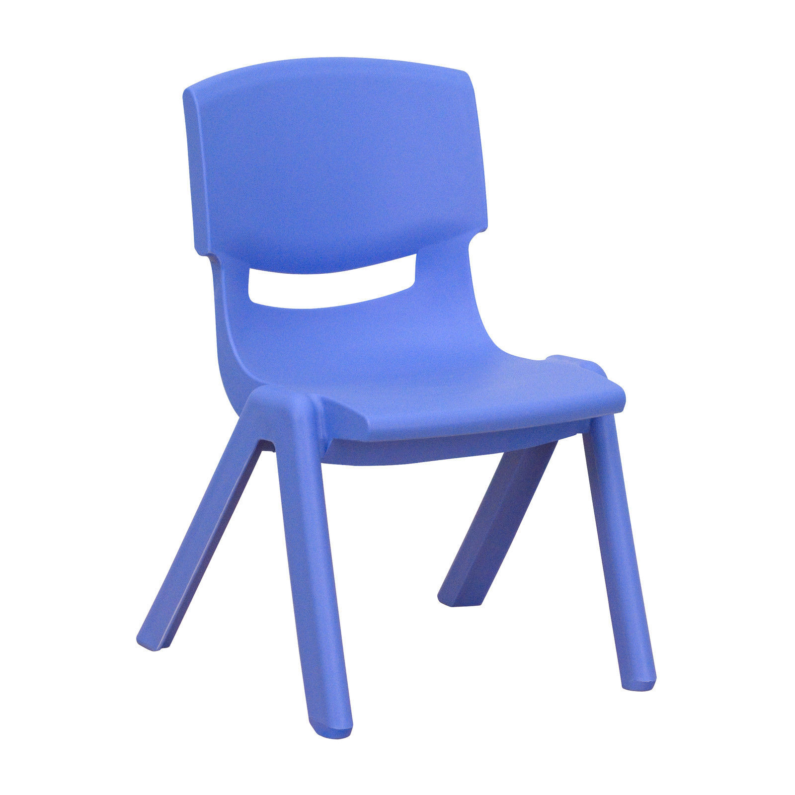 Flash Furniture Blue Plastic Stackable School Chair With 10 5 39 39 Seat Height Chairs