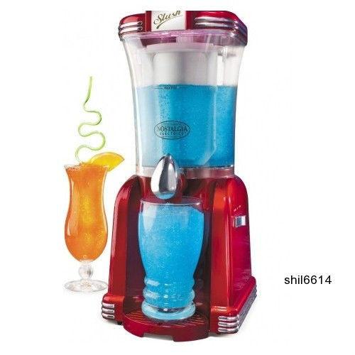 Countertop Ice Maker Nz : Red Frozen Drink Maker Machine Margarita Ice Slushie 2 speed Nostalgia ...