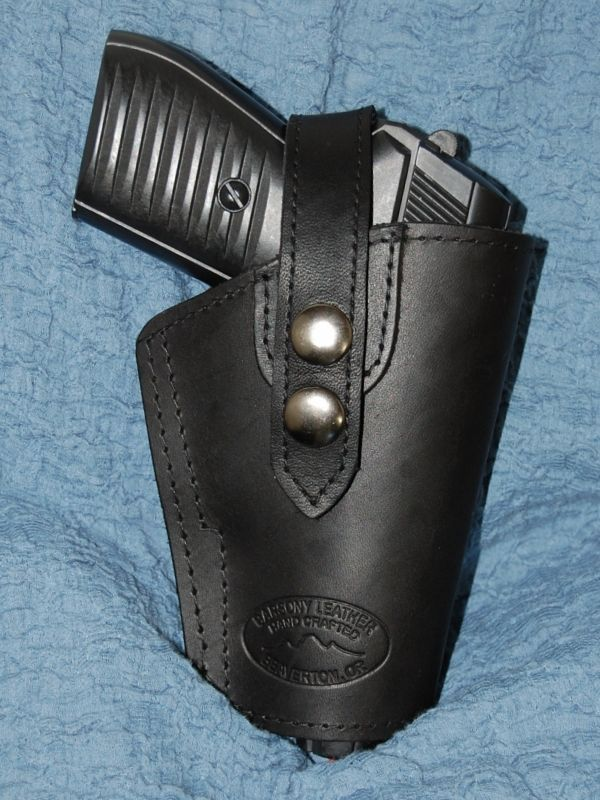 BARSONY BLACK LEATHER GUN HOLSTER KIMBER ULTRA CARRY II ...
