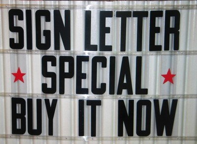 Sign letters 8quot on 8 7 8quot flexible plastic letters for for Small plastic letters for signs