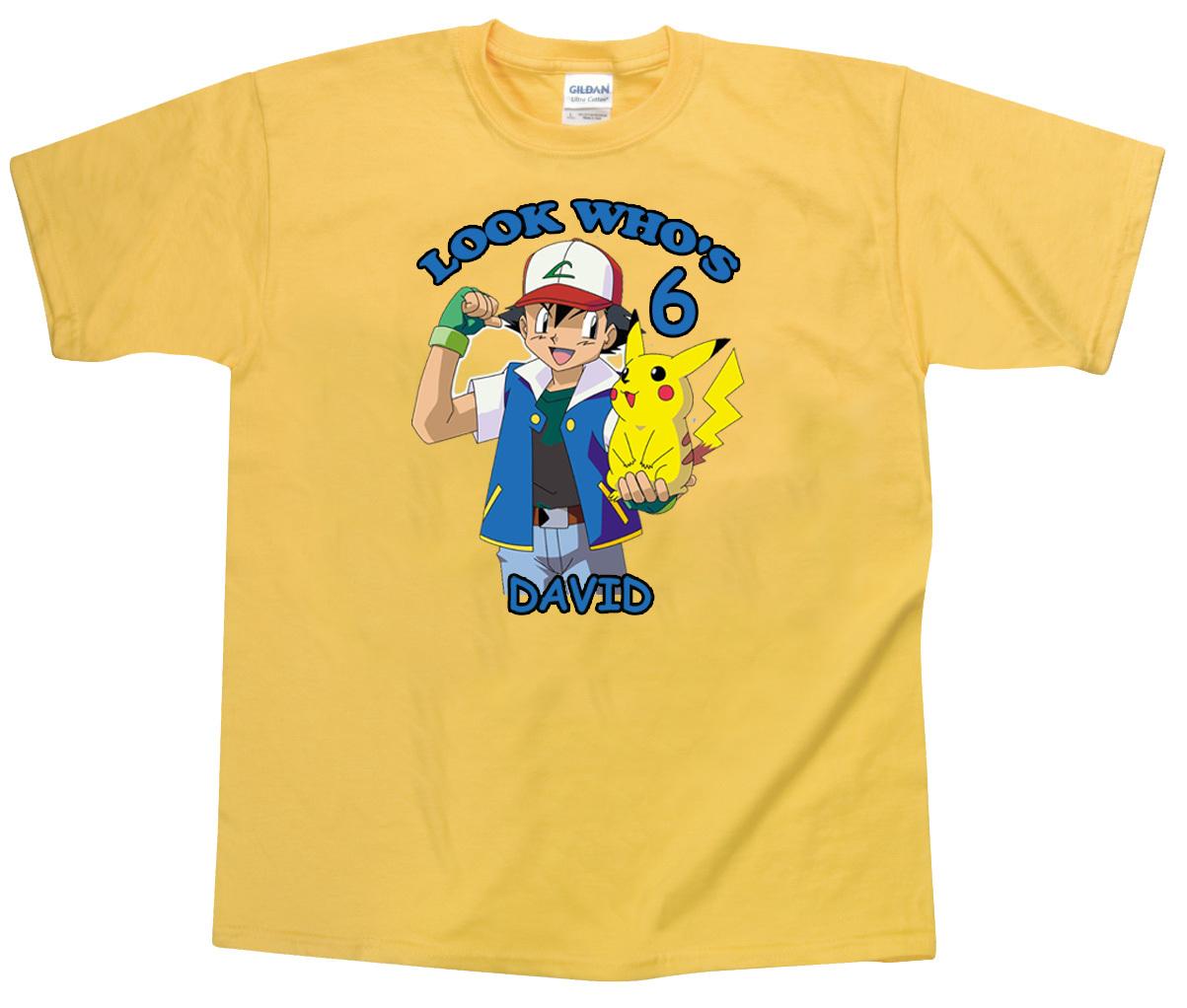 Pokemon for Custom personal trainer shirts