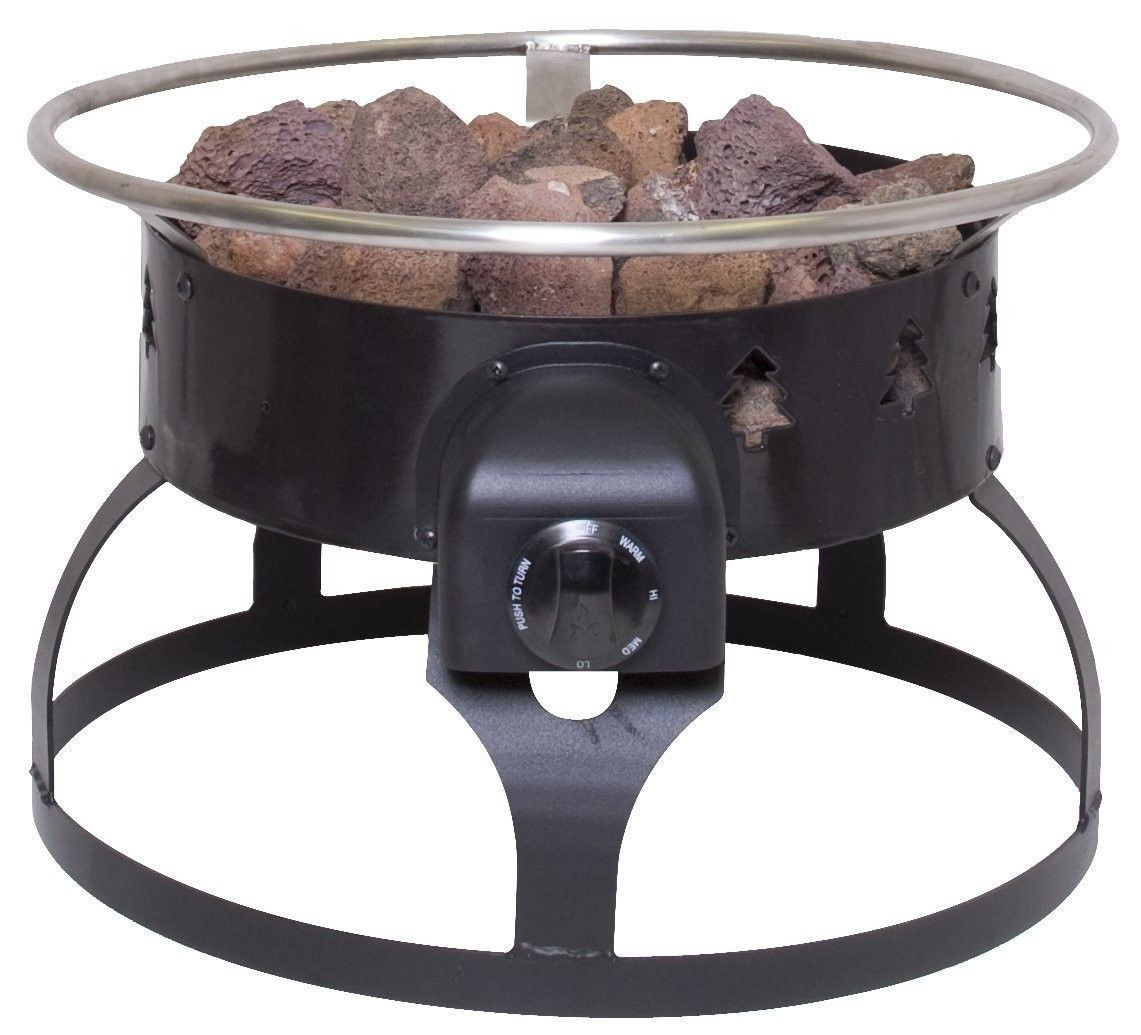 Portable Patio Fire Pit : Fire Pit Portable Gas Outdoor Camping Cooking Heater Yard Deck Patio