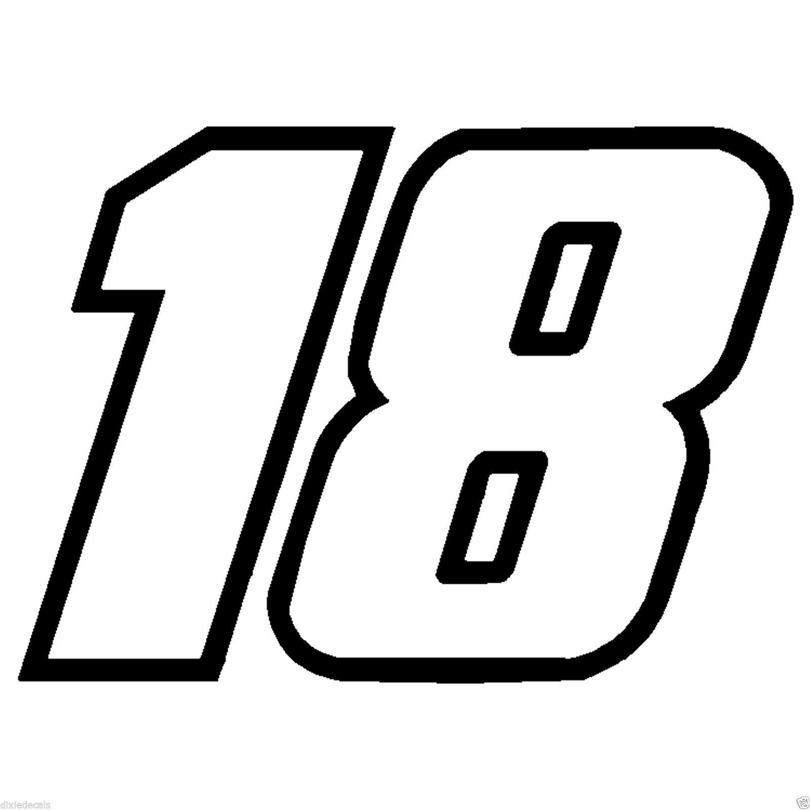 8 kyle busch number 18 window decals vinyl and 50 similar for Window number