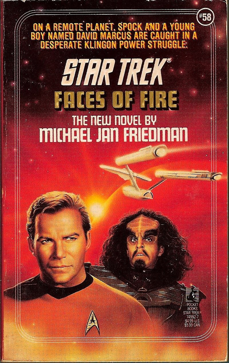 Star Trek TOS Faces of Fire No 58 by Michael Jan Friedman 1992