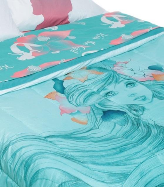 The Little Mermaid Ariel Sketch Full Queen Comforter 4 Piece Sheet Set New Comforters Sets