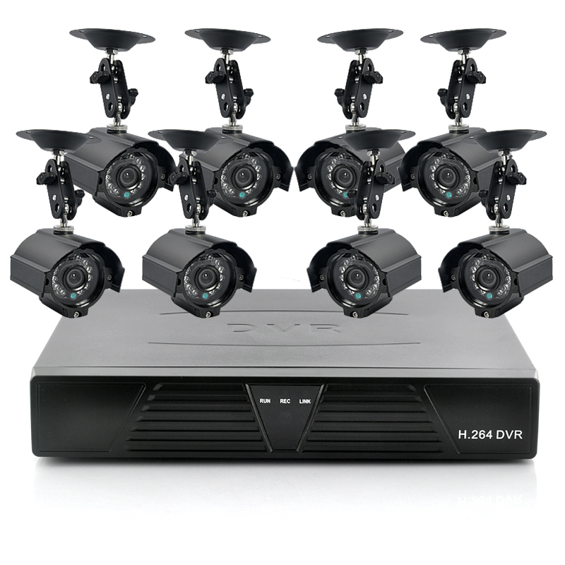 8 Camera Surveillance Kit - 8 Outdoor CCTV Cameras, H264 DVR, 1TB (2nd Generatio