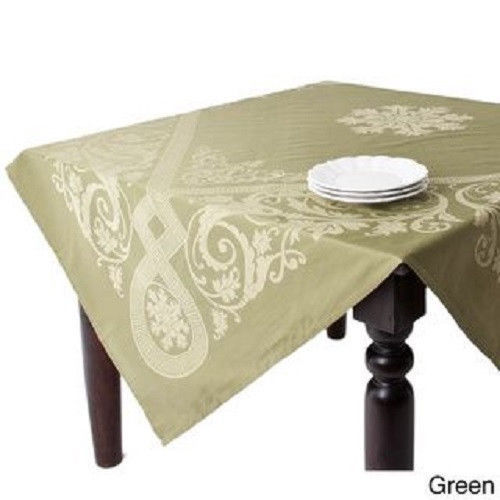 square tablecloth jacquard tabletopper 72x72 centerpiece dining room