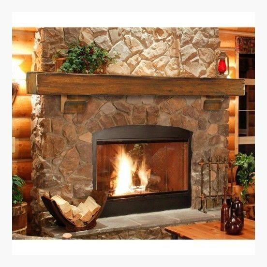 Wood Beam Mantle 72 Rustic Pine Fireplace Mantel Shelf Hand Hewn High Quality Mantels