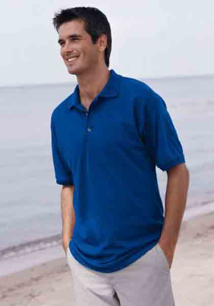 Image 5 of Pocket Polo Golf Shirt Gildan 8900, Adult, Hot Sports Colors, Cotton Blend - Bla
