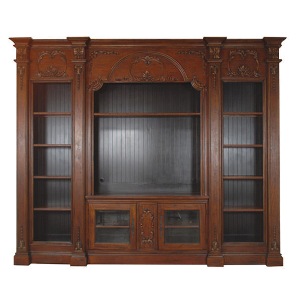 Fabulous tv entertainment center mahogany wood wall unit