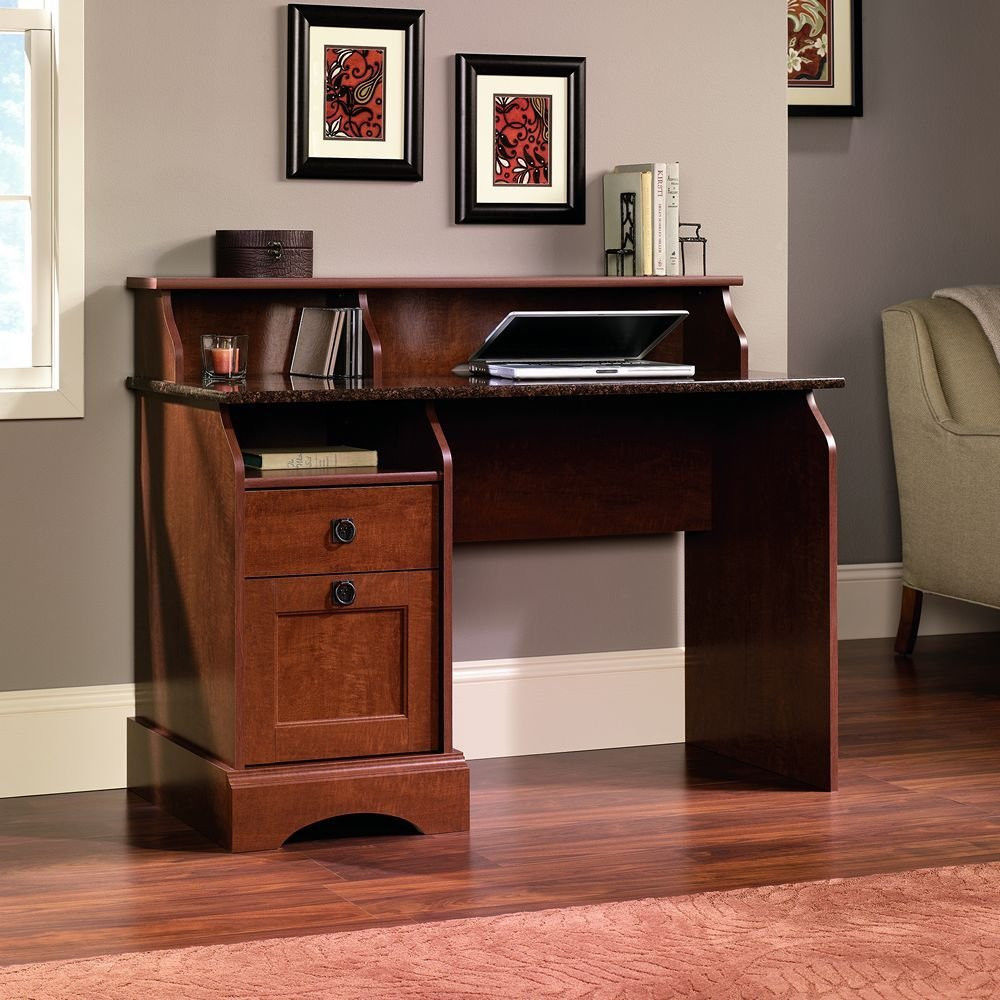Sauder computer desk wood home office furniture with 2 drawers business work desks home - Sauder office desk ...