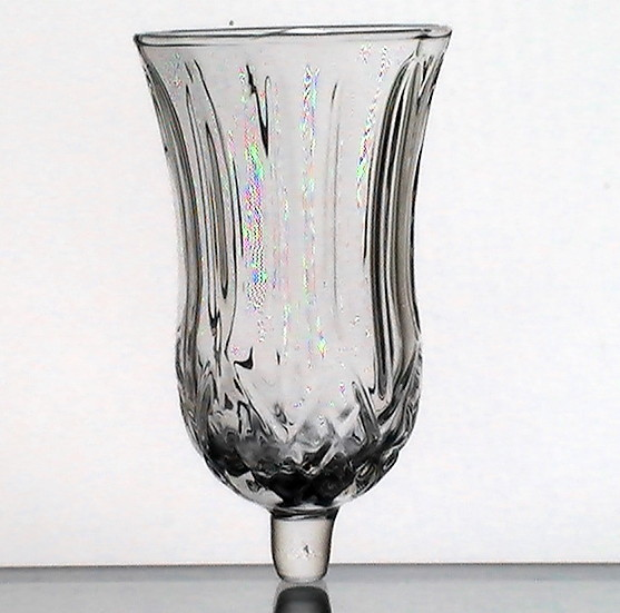 Home Interiors Peg Votive Holder Cup Glass Diamonds And Fronds Candle Holders Accessories