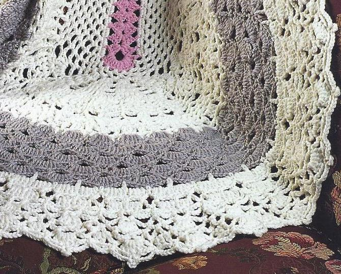 RARE~Oval Afghan Crochet Pattern~Annies Quilt & Afghan ...