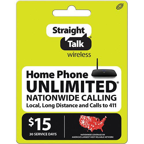 Straight Talk Wireless $15 Plan Home Phone refill prepaid card pin ( digital )