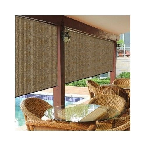 shade 8 39 x 8 ft window patio outdoor blinds roll up sun blinds