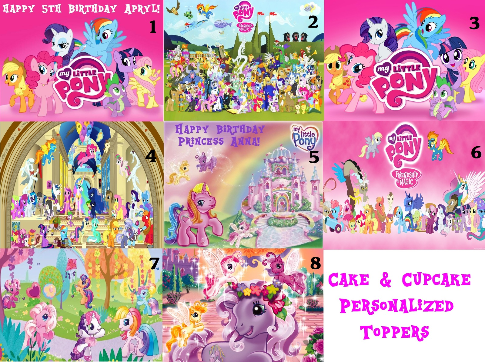 My Little Pony Cake Toppers Lookup Beforebuying