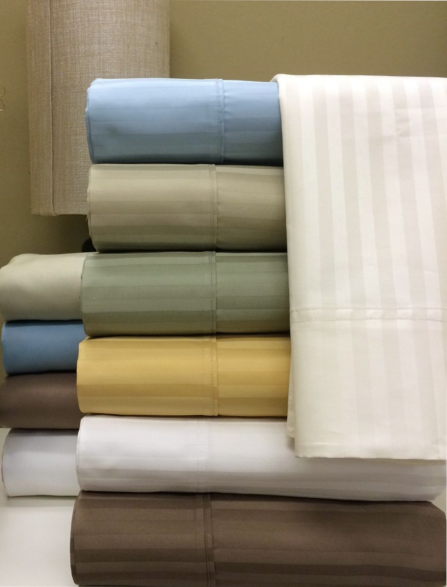 Image of 1000 Thread count Stripe Egyptian cotton sheets Set King $250