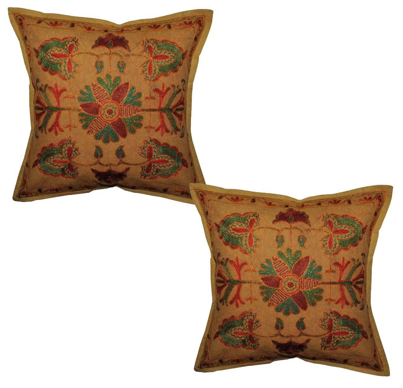 P vintege indian home furnishing cotton cushion cover