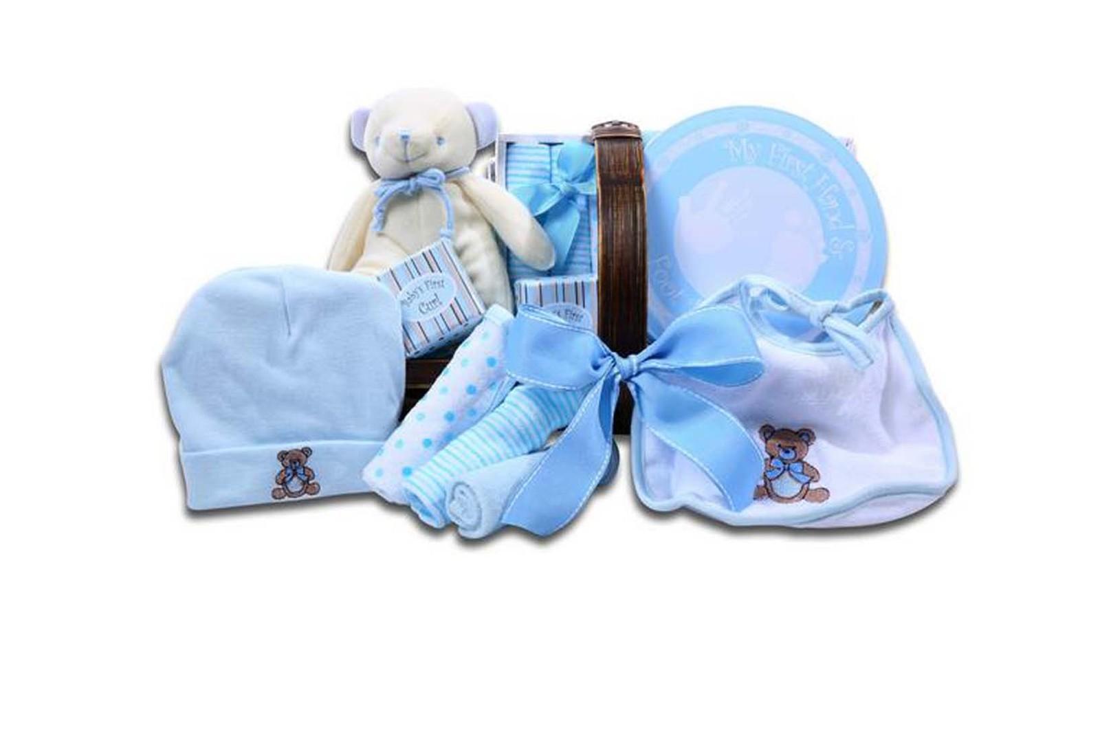 Baby Boy Gifts Nz : Darling baby boy gift basket keepsakes
