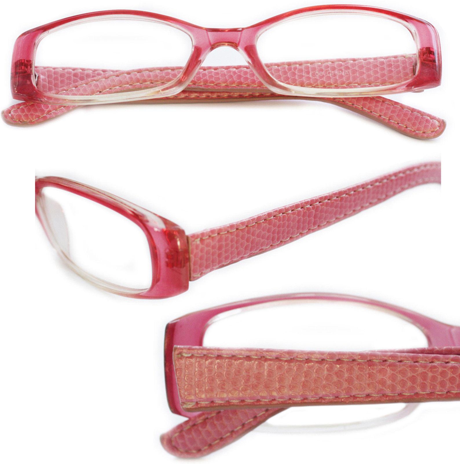 Reading Glasses ~ Posh ~ Rectangle Lens Pink Frame ...