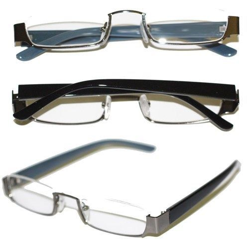 Gray Frame Reading Glasses : Reading Glasses TOPLESS Half Eye Delicate Reader ...