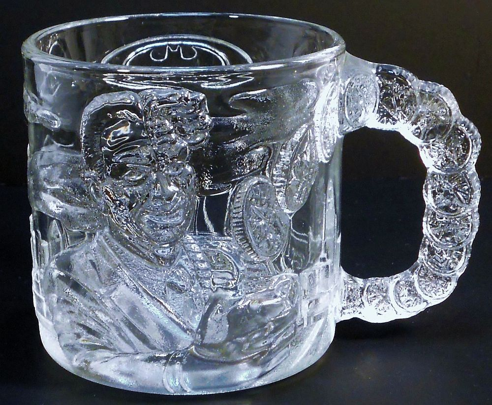 Batman Forever Two-Face Mug McDonalds glass 1995