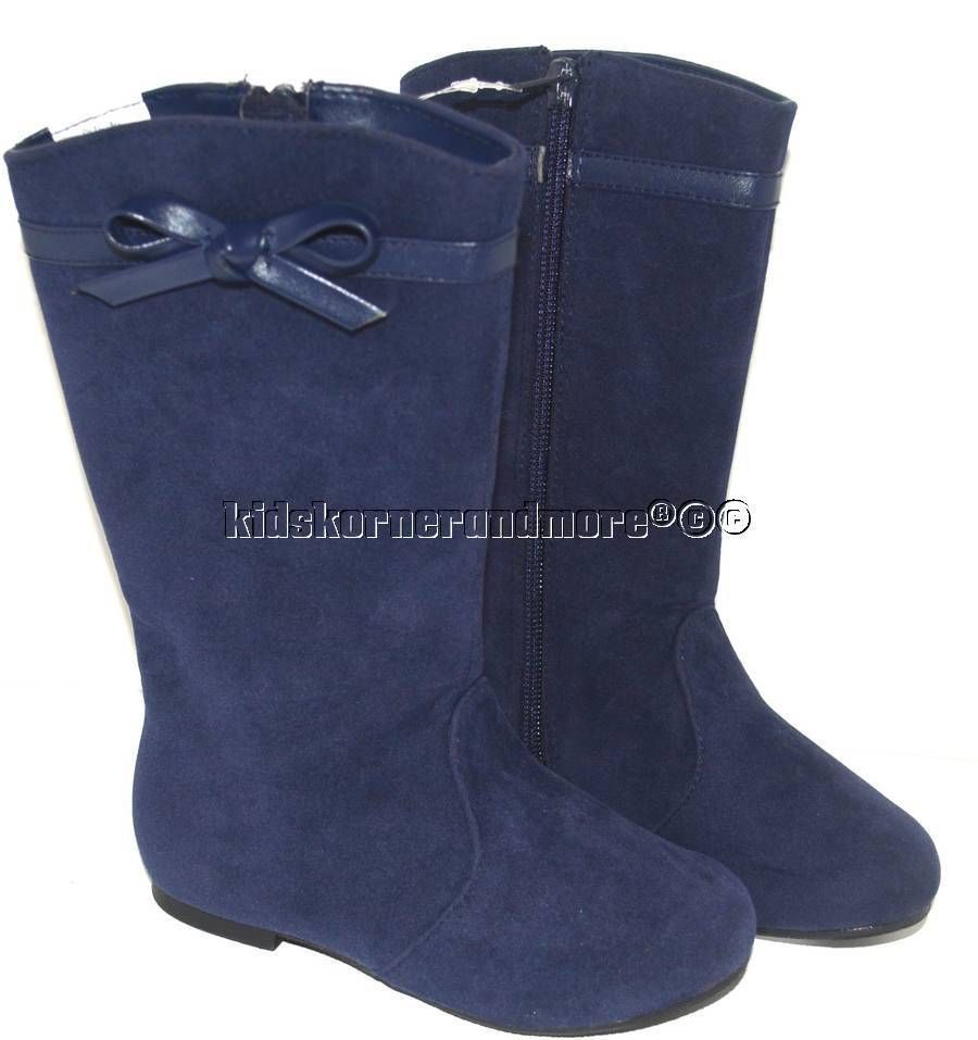 gymboree bundled and bright 13 blue microsuede boots
