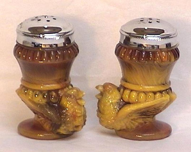 Boyd Art Glass Bird Salt Pepper Shakers 1990 Other
