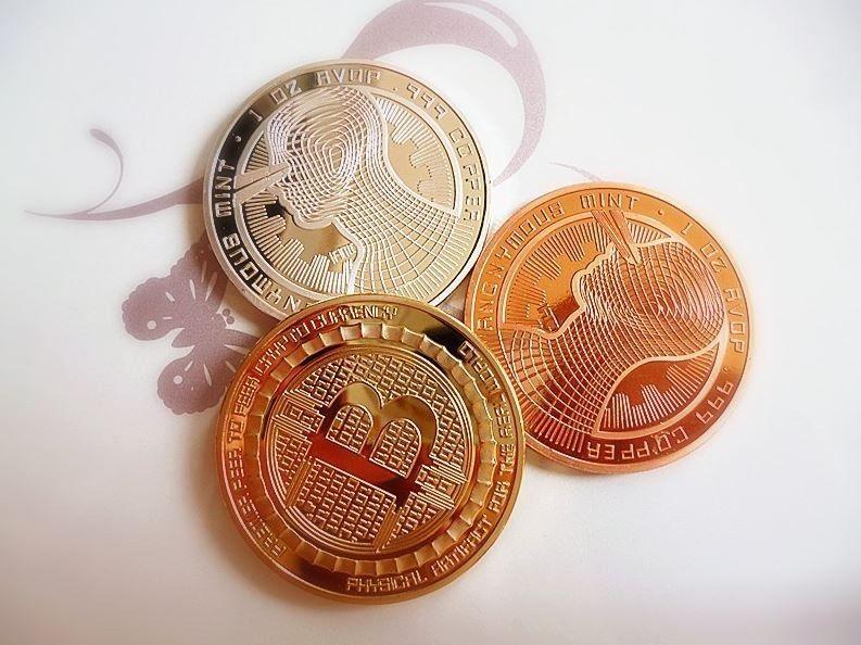 Bitcoin Guardian 3/pcs Coin Set GOLD SILVER COPPER ...