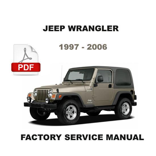 1997 2006 jeep wrangler factory oem service repair. Black Bedroom Furniture Sets. Home Design Ideas