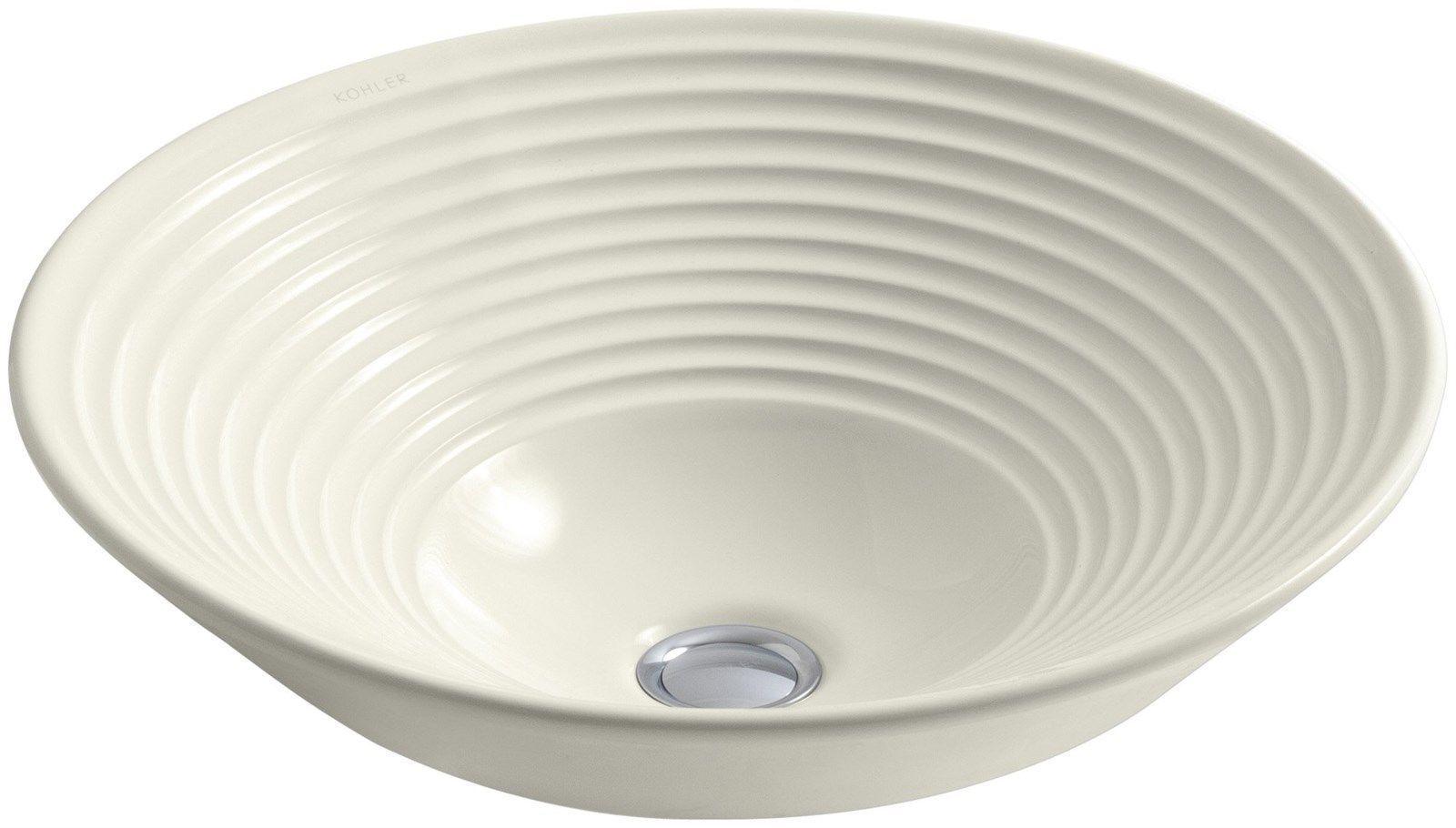 Kohler Vessel Sinks : Kohler K-2191-96 Turnings Vessels Bathroom Sink Above Counter Biscuit ...