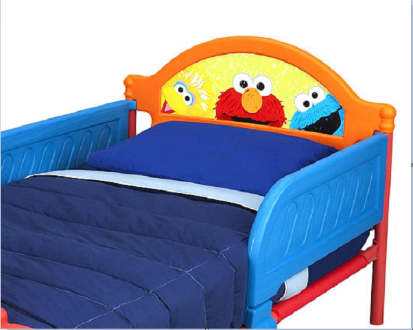 elmo toddler bed sesame street bedroom children 3d footboard headboard