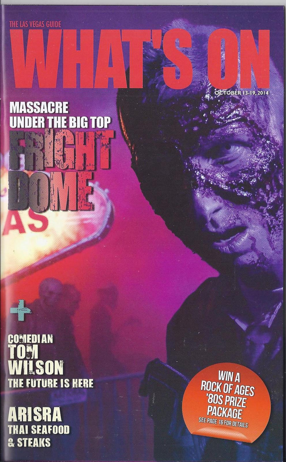 fright dome at circus circus hotel whats on las vegas magazine oct 2014 magazine back issues. Black Bedroom Furniture Sets. Home Design Ideas