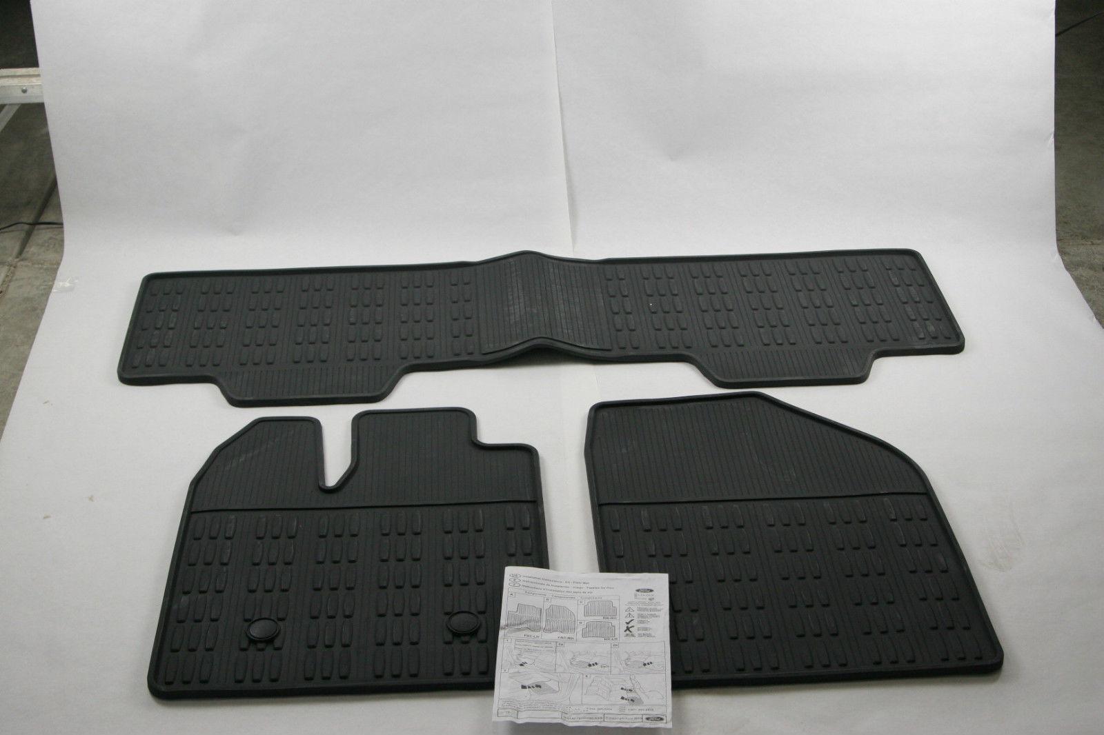Weathertech floor mats autozone - New Oem Ford Lincoln All Weather Floor Mats Rubber Vinyl Ba1z7813300ac