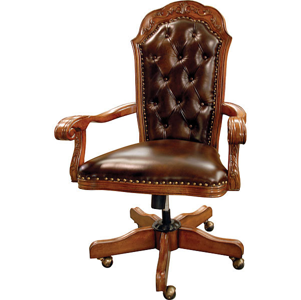 Executive Office Leather Brown Chair