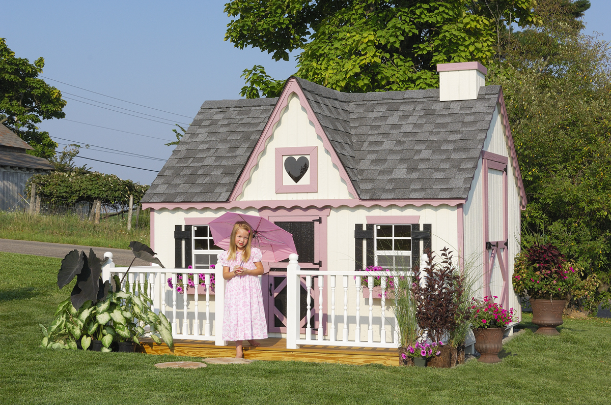 Victorian Backyard Floored Playhouse :  Company 8×10 Victorian Playhouse wFloor Kit  Permanent Playho