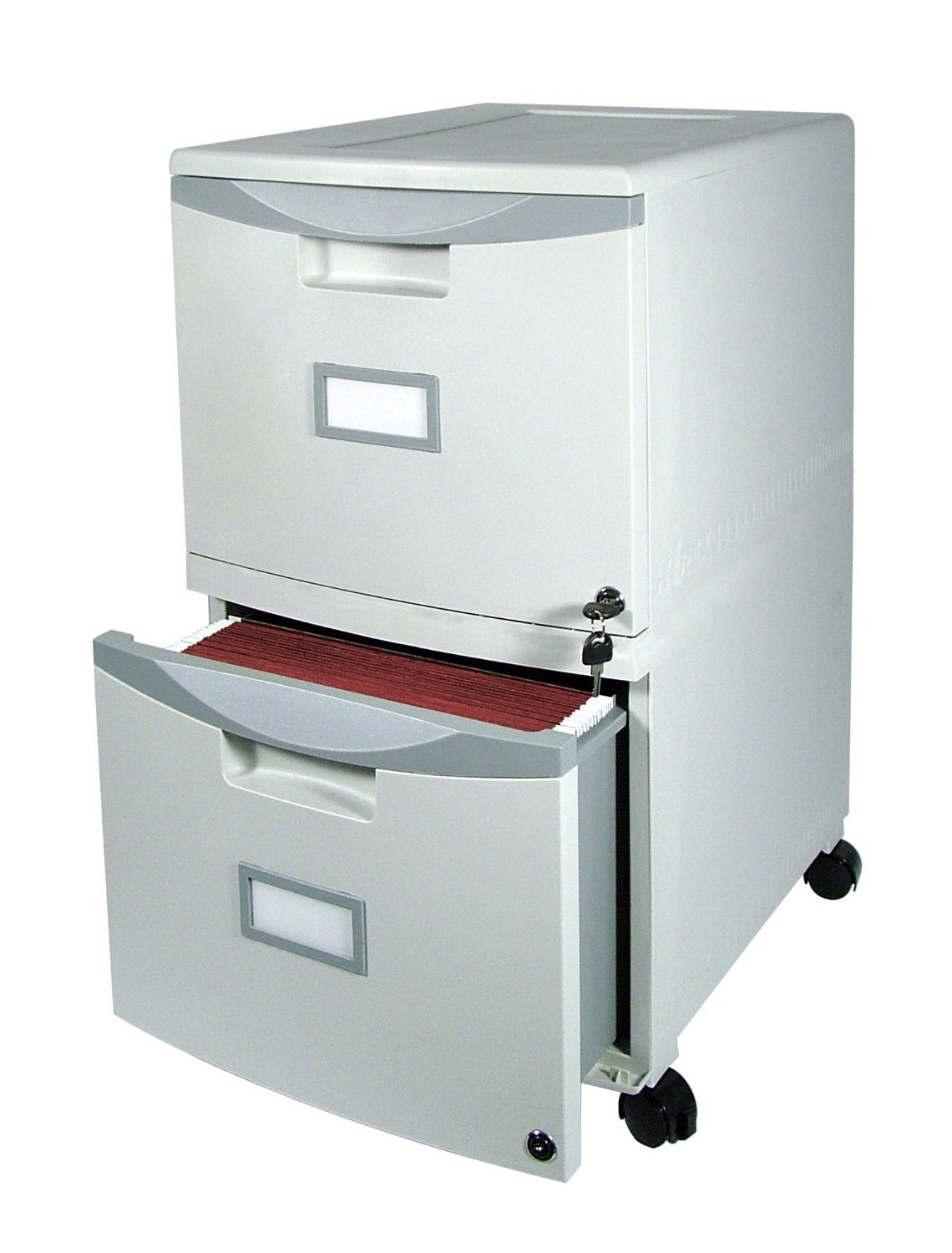 2 Drawer Home Small Office File Mobile Filing Locking