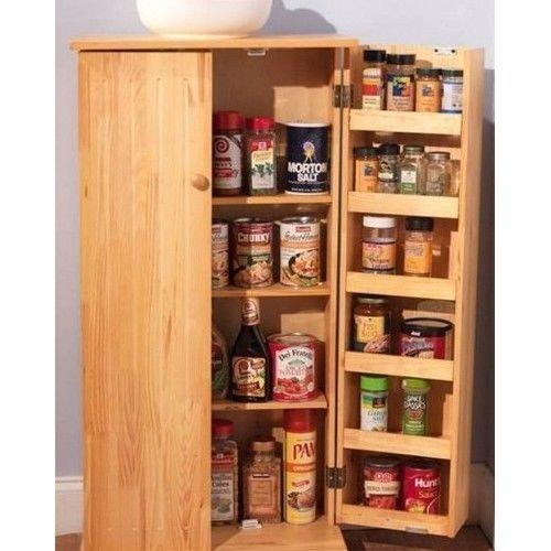 Kitchen Cabinet Space Savers: Wooden Kitchen Pantry Organizer Storage Space Saver Food