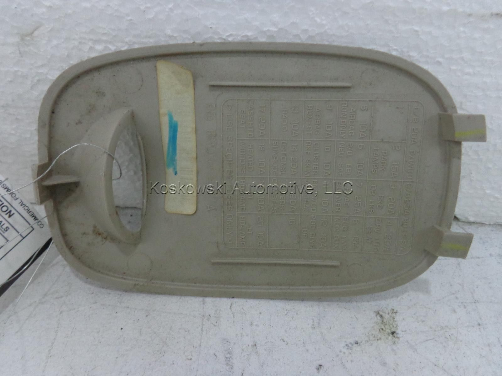 fuse panel cover pt cruiser dash 2001 01 chrysler tan 07 PT Cruiser Fuse  Panel PT Cruiser Fuse Box Location