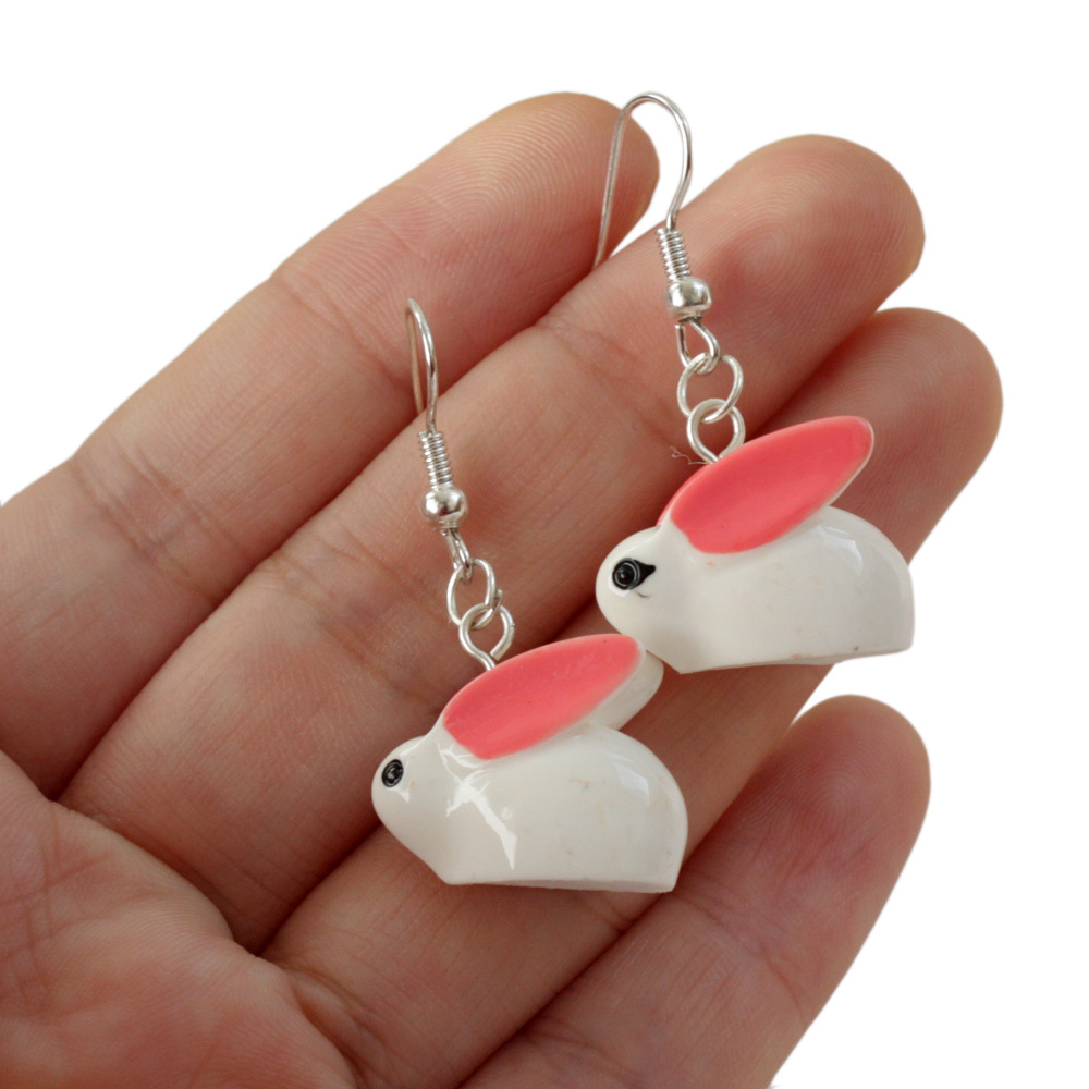bunny earrings rabbit earrings bunny jewelry animal jewelry animal 8451